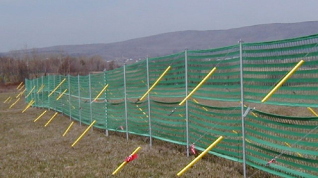 Side tensioning snow fence SZ 225/4