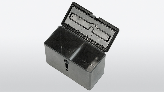 Battery box open