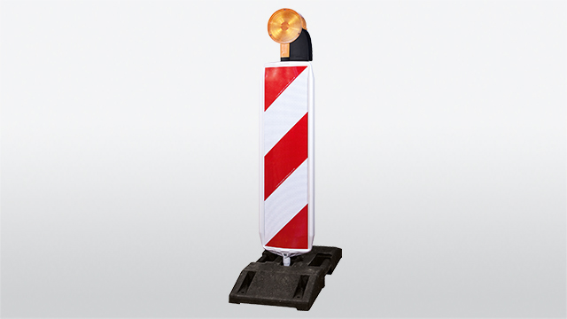 Safety standard beacon with rotating system and pull our-safety mechanism, warning light COMLite LED and base plate