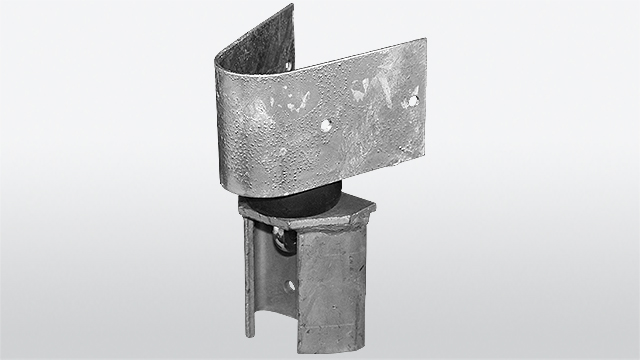 Holder for Guard-rail delineator Type LP 540 with shock absorber