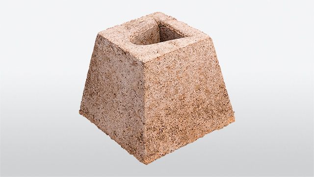 Concrete dig-in base stone