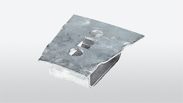 Universal base part for mounting on concrete ground