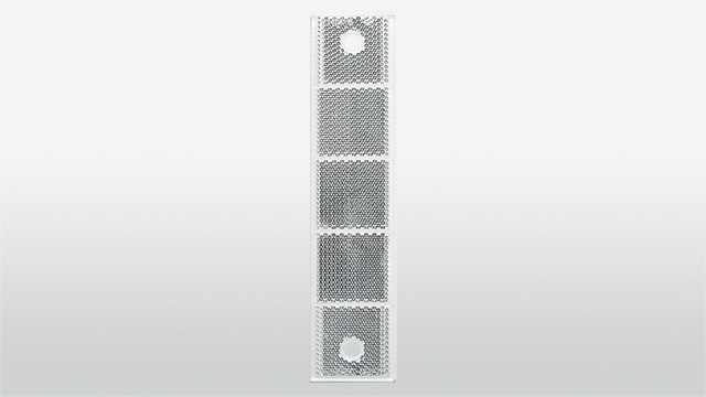 Impact-resistant reflector with borehole 40 x 180 mm