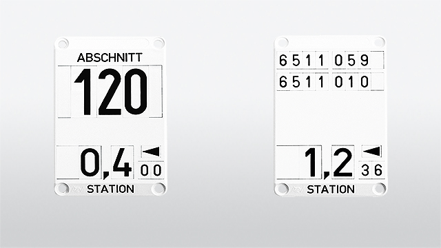 Plug-in stationing signs