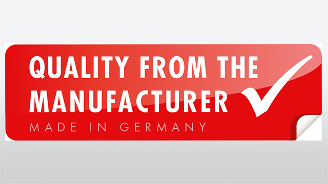 Quality from the manufacturer, Made in Germany